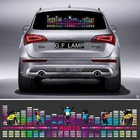 LED EL Sheet Light Lamp Sound Music Activated Equalizer Flash Panel Light Flashing eight combination Flash Car Sticker Music Rhy
