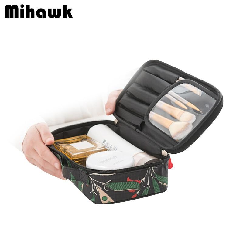 Mihawk Femmes de Sac Cosmétique Voyage Organisateur Fonctionnelle Maquillage Pochette Vanity Case Esthéticienne Pochette De Toilette Accessoires Fournitures