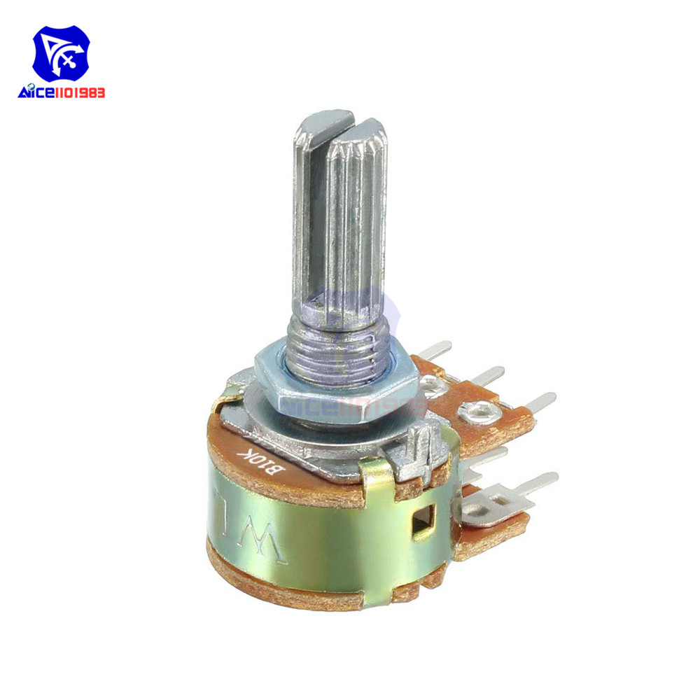 WH148 B10K Potentiometer Resistor 10K Ohm 6 Pins 6mm Dia. Shaft Rotary Linear Taper Potentiometer For Arduino