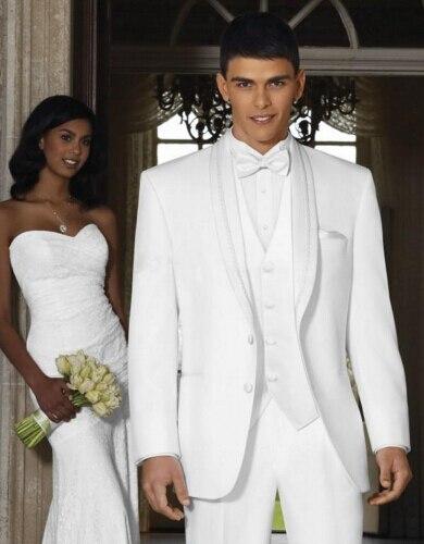 2017 Latest Pant Brasão Designs Branco Jaqueta Dos Homens Ternos de Casamento Do Noivo smoking Slim Fit 3 Peça de Formatura Personalizado Estilo Blazer Masculino Z7