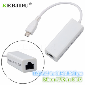 Kebidu Micro USB To RJ45 Ethernet LAN Network Card Adapter 100Mbps For Tablet PC Laptop For Android Wholesale