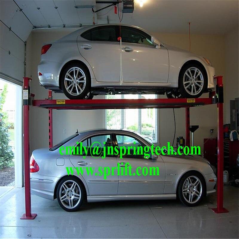 New Designed Safe Electric Garage Lift Storage System Post Home Garage Car Lift System on 4 Post Car Storage Lifts