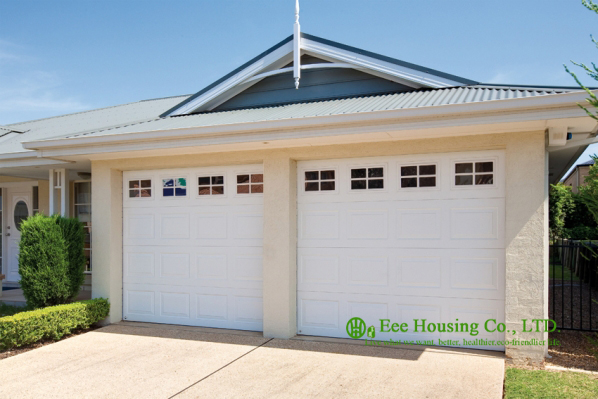 Detached Garage,automatic Sectional Insulated Garage Door, Remote Control Sectional Residential Garage Door For Sale,white Color