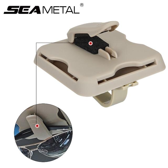 Car Sunglasses Clips Box Organizer Case Sun Visor Sunshade Bag Stowing Tidying Storage Bags Card Holder Interior Car Accessories