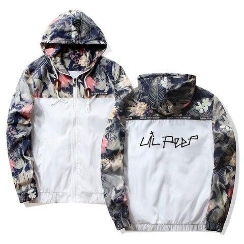 Frdun Tommy Lil Peep Sad Hooded Jackets Windbreaker Men Jackets Coats Sweatshirt Men Hip Hop Zipper Lightweight Jackets Bomber Multan