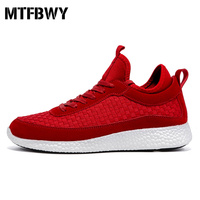 Men Walking Shoes Red Weaving Breathable Outdoor Shoes For Male Jogging Sport Shoes Man Size 39