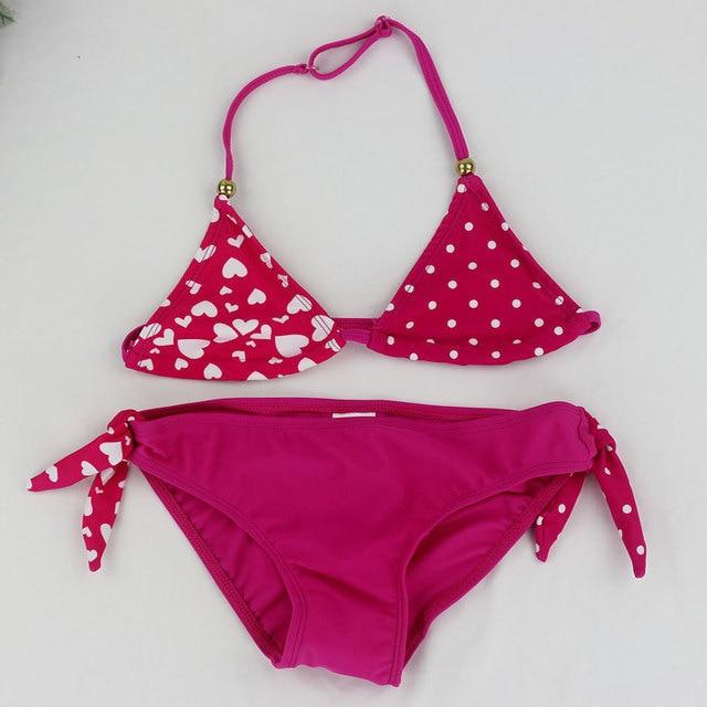 2018 New Children Swimwear Baby Kids Cute Bikini Girls split Two Pieces swimsuit Bathing suit Beachwear kids biquini infantil