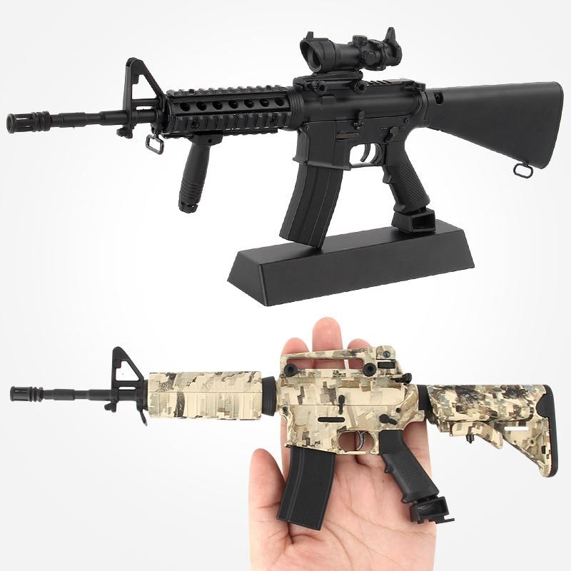 1:3 Alloy M4A1 Assault Rifle Carbine Gun Military Assemble Gun Model Melal Removable Can Not Shoot Boy Gift