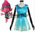 Película trolls princesa bobby dress adultos mujeres carnaval de halloween cosplay por encargo
