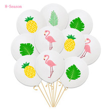 8-Season Flamingo Balloon High Quality 12inch Latex Pineapple Helium Balon Jungle Party Table Decorations Balloons