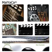 MaiYaCa Your Own Mats clapperboard movie spotlight Computer Gaming Mouse mats Rubber PC Computer Mousepad For PC Laptop Notebook(China)