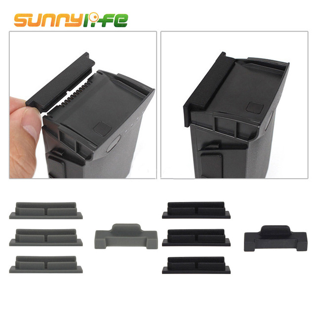 SUNNYLIFE 4PCS Silicone Drone Body Battery Terminal Charging Port Protector Cover Cap Plug For DJI MAVIC Air Accessories