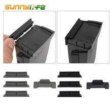 SUNNYLIFE Batería de cuerpo de silicona para Dron, Protector de carga para Puerto, tapa, accesorios para DJI MAVIC Air, 4 Uds.