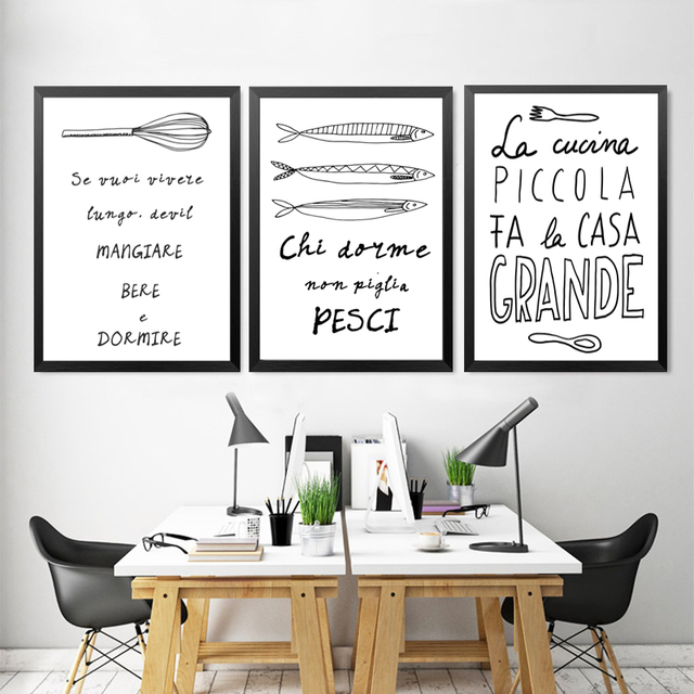 Awesome stampe moderne per cucina ideas home interior - Poster per cucina ...