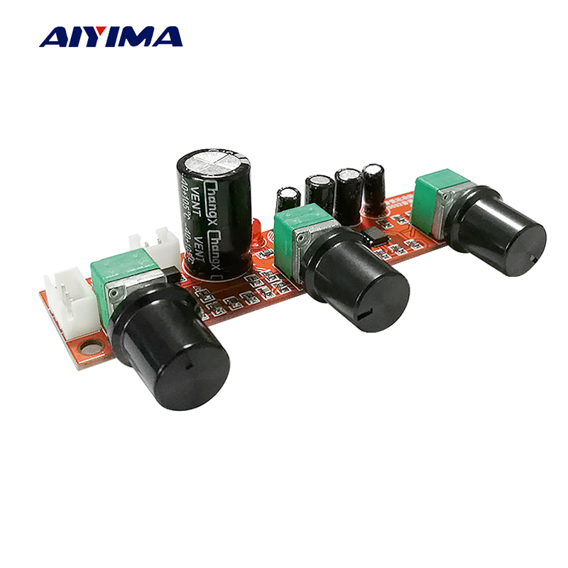 AIYIMA NE5532 Tone Amplifier Preamplifier LM1036 Volume Control Board AD827  OP-AMP Single Power Preamp Volume Tone EQ Control