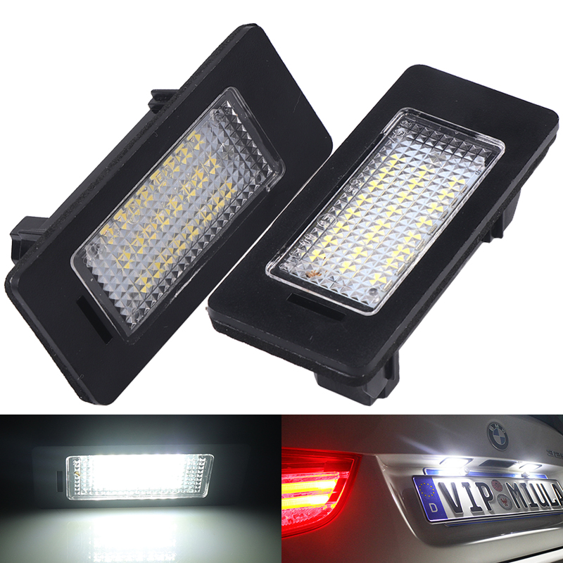 BMW E39 12 SMD High Power LED Canbus Error Free Number License Plate Light Bulbs