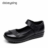 New Handmade Genuine Leather Women S Ballet Flat Shoes Female Casual Loafers Woman Comfortable Car Styling