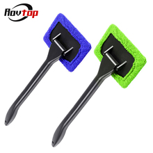 Window Cleaner Brush Kit Car Window Windshield Cleaning Wash Tool Inside Interior Auto Glass Wiper With Long Handle Z2