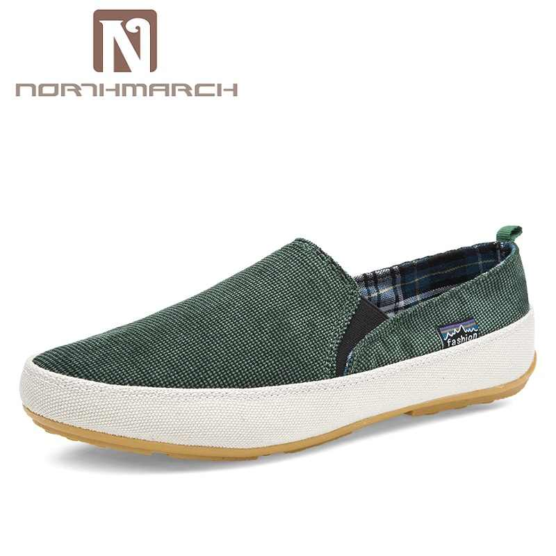 NORTHMARCH Men Sneakers Summer Loafers Breathable Canvas Shoes High Quality Slip On Casual Footwear Fashion Light Walking Shoes
