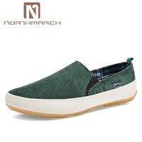 NORTHMARCH мужские кроссовки 9908 летние Лоферы дышащая парусиновая обувь Высокое качество слипоны повседневная обувь модные легкие ботинки для ...