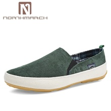 NORTHMARCH Men Sneakers Summer Loafers Breathable Canvas Shoes High Quality Slip-On Casual Footwear Fashion Light Walking Shoes