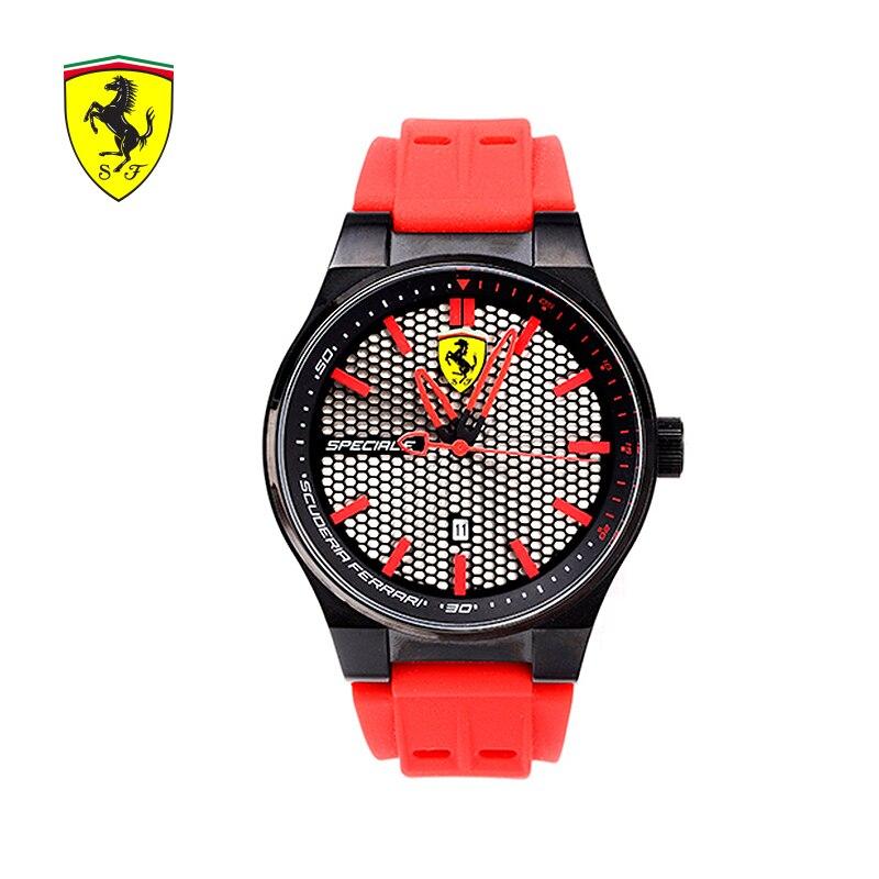 Luxury Ferrari Fashion Mens Watches Red Mens Watches Elegant Minimalist Casual Men