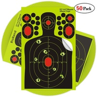 50pcs/pack Shooting stickers Splatter Targets Self Adhesive labels Paper Silhouette Reactive Target Sticker for Gun Rifle