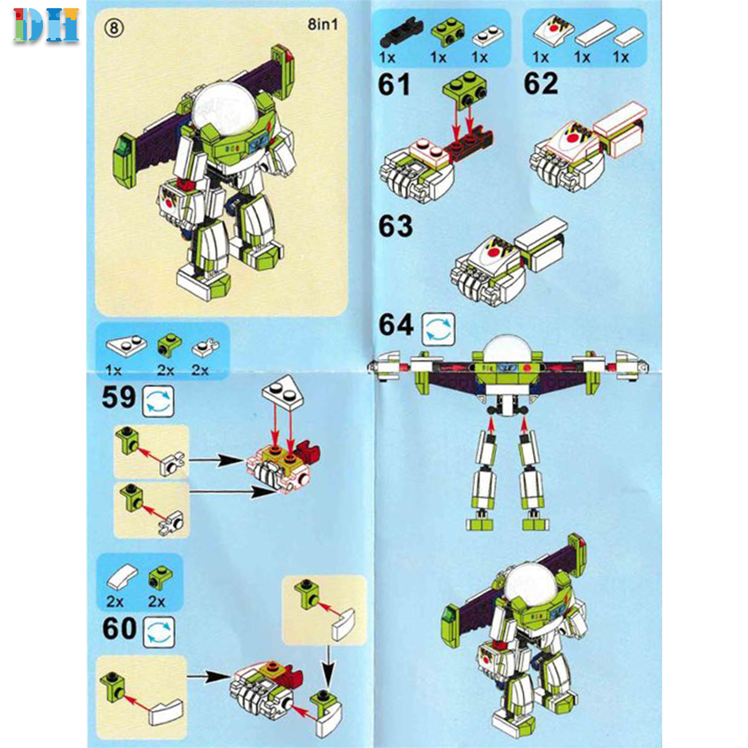 Image 5 - 8 in1 Toy Story 4 Figures Gremlins Gizmo Woody Buzz Lightyear Jessie Andy Super Mario Building Blocks Friend toys-in Blocks from Toys & Hobbies