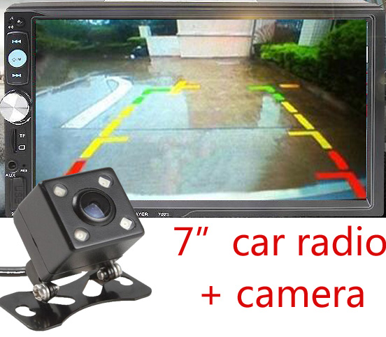 2Din Universal Car MP3 Player Auto Car Radio Player 12V Bluetooth Music Player include rear view camera Support USB SD