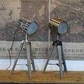 Ретро Королевский деревянный треножник для поиска стола  бронзовый светодиодный настольный светильник  гибкая светодиодная настольная ла...