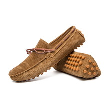 2019 Fashion Leather Men Loafers Moccasins Slip On Mens Flats Male Casual Shoes 3#15E50