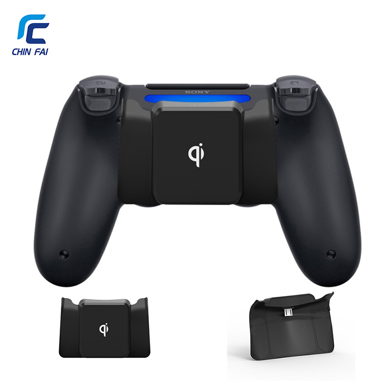 CHINFAI Wireless Charger Adapter for PS4/PS4 Slim/PS4 Pro Qi Wireless Charging Receiver for PS4 DualShock 4 ControllerCHINFAI Wireless Charger Adapter for PS4/PS4 Slim/PS4 Pro Qi Wireless Charging Receiver for PS4 DualShock 4 Controller