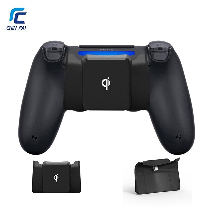 CHINFAI Drahtlose Ladegerät Adapter für PS4/PS4 Dünne/PS4 Pro Qi Drahtlose Aufladen Empfänger für PS4 DualShock 4 controller