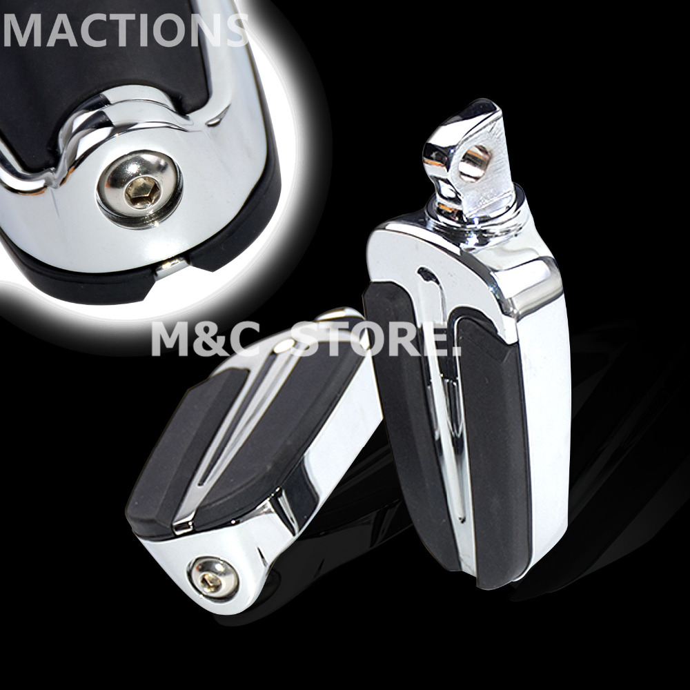 Motocycle Universal Slipstream Foot Pegs Footrests Moto Foot Rest Case for Harley Heritage Softail with Male