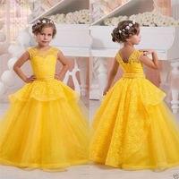 Amarillo/Rosa vestidos de Baile Formal Vestidos de Bola del vestido