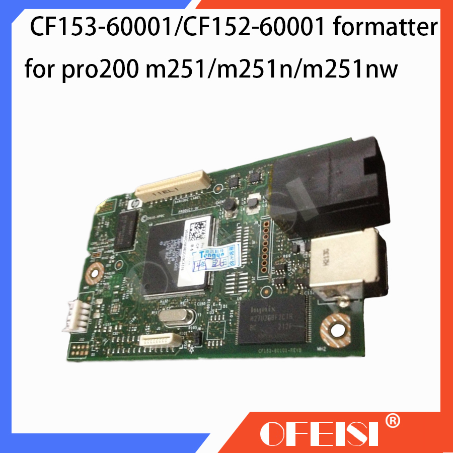 2X Original CF153-60001 CF152-60001 Formatter Board PCA ASSY logic Main Board MainBoard for <font><b>HP</b></font> pro200 M251 <font><b>M251N</b></font> 251NW Printer image
