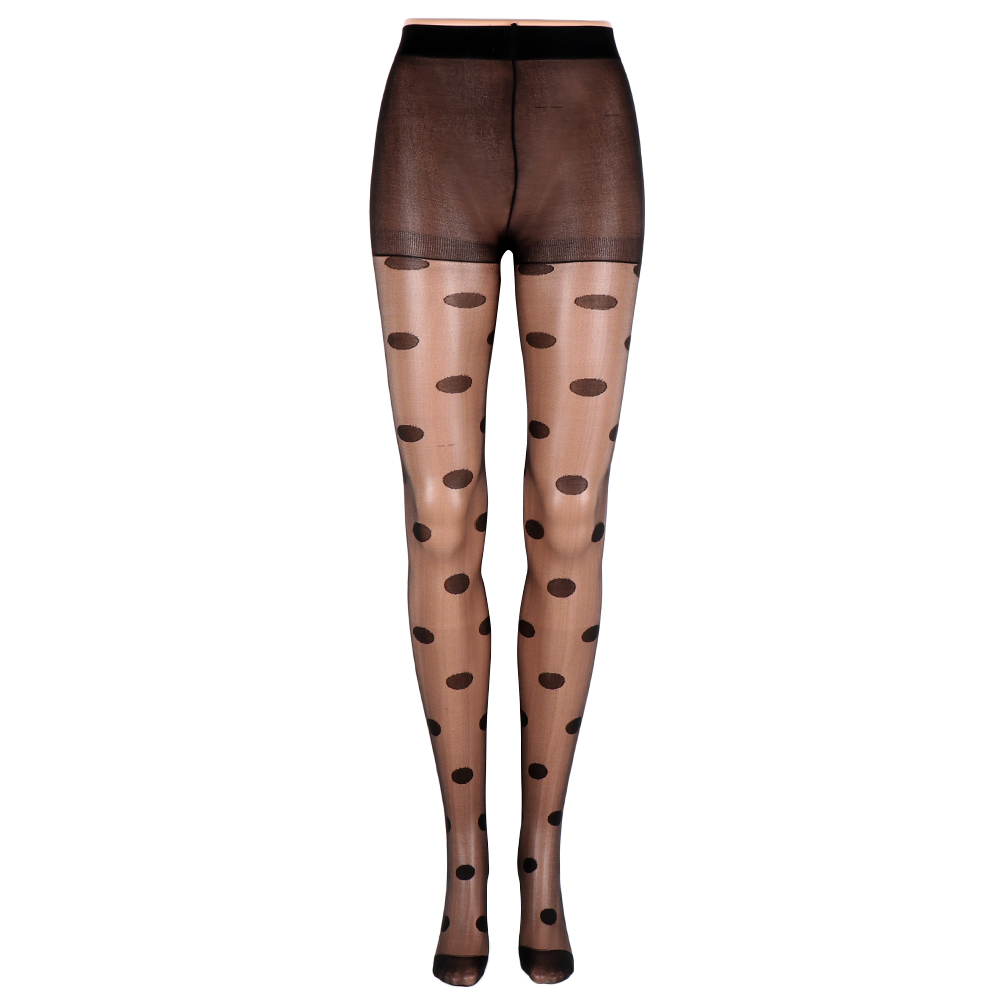 Japan Style Tights Full Length Dot Patterned Women Pantyhose Sweet Girl Sexy Female Stocking Transparent Silk Tights