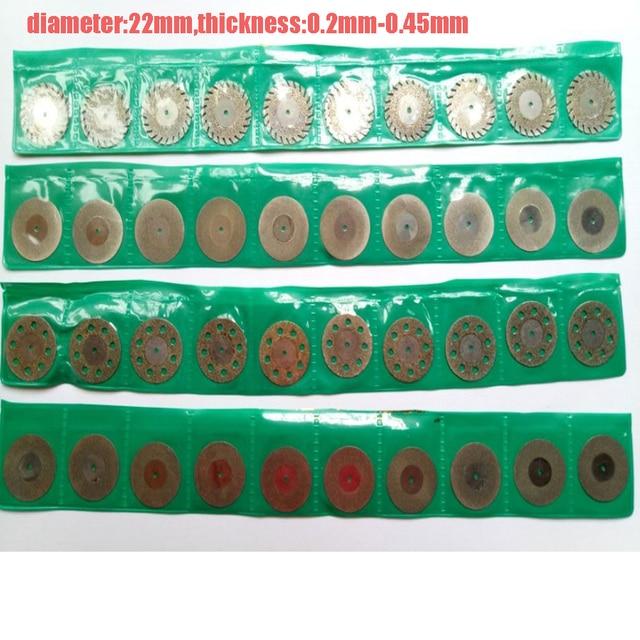 80 pcs dental lab Dental Diamond Coated Cut-Off Polishing Wheel Solid Saw Disc Rotary Tool