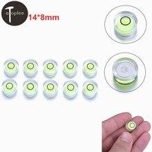 10 шт. Зеленый уровень пузырьковый диск мини пузырьковый уровень круглый спиртовой уровень измерительные инструменты инструмент 14x8 мм