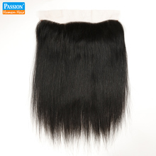 Passion Hair 13×4 Ear to Ear Brazilian Lace Frontal Closure Brazilian Straight Frontal Closure Grade 8A Free Part Lace Frontals