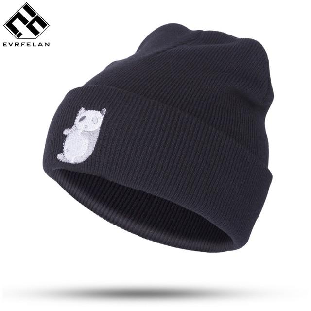 New Fashion Winter Hat Cap Cartoon Panda Pattern Knitted Cap Hat For