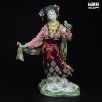 Shiwan кукла мастер тонкой древние символы мечты Красный особняки Двенадцать красавицы как керамические украшения ремесла