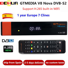 Freesat V8 upgrade Gtmedia V8 NOVA Satellite TV Receiver DVB-S2 Europe Clines for 1 Year Built Wifi Dongle High Quality Stable