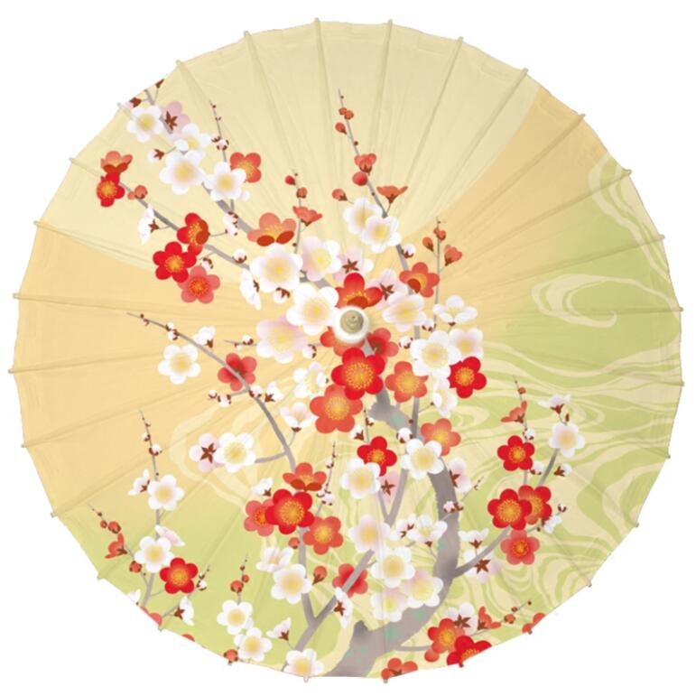 Us 23 68 Bright Light Yellow Color Oil Paper Umbrella Pink White Cherry Paper Parasol Japanese Bride Wedding New House Paper Umbrella In Umbrellas
