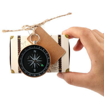 10pcs Wedding Compass Candy Gift Box Bag Blank Tags Gifts for Guest Travel Baptism Bride Wedding Favor Souvenir Party Decoration 1