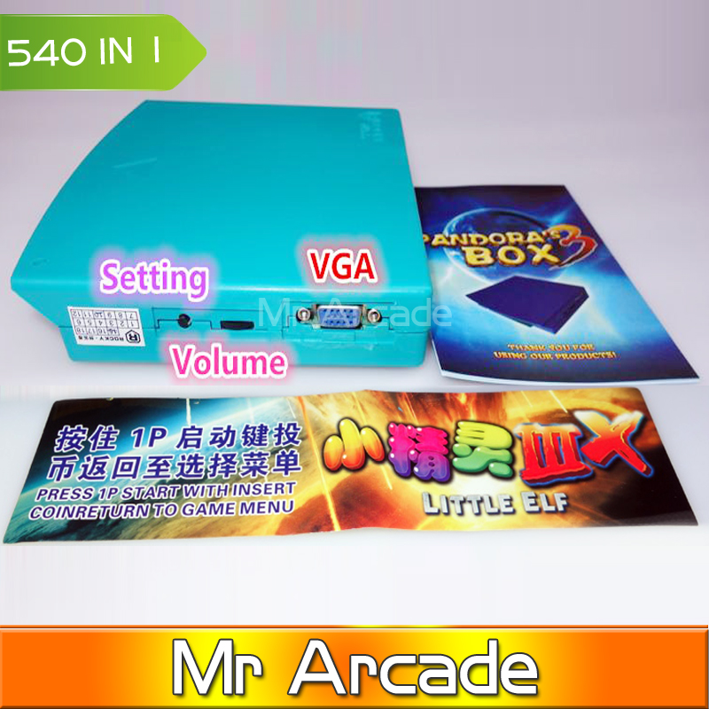 Free Shipping New Arrival LITTLE ELF3 HD jamma arcade multi game board 540 in 1 games pcb multigame card VGA&CGA output LCD CRT free shipping pandora box 4 vga cga output for lcdcrt 645in1 game board arcade bundle video arcade jamma accesorios kit arcade