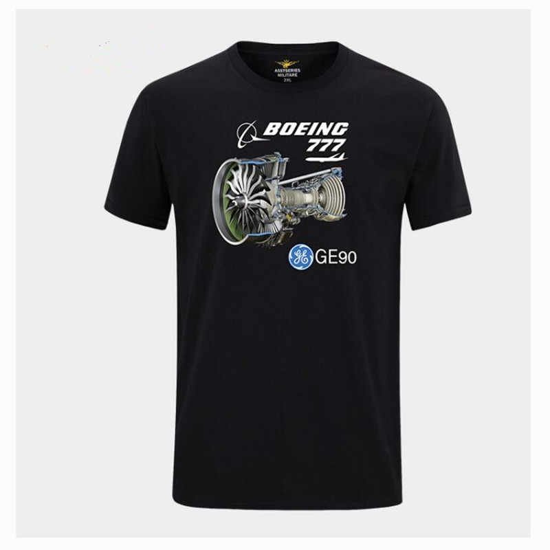 2019 Summer Boeing 777 T Shirts Air Force One Ultra Cool Design High Qualityl 100% cotton T Shirt Mens Clothing Short Sleeve