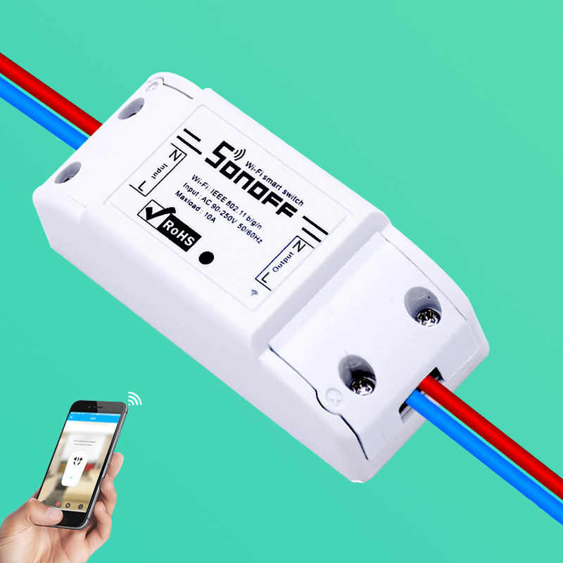 Remote Kontrol Nirkabel Cerdas DIY Timer Universal Switch Otomatisasi Rumah Sonoff Dasar Wifi Switch Smart Home Alexa Google