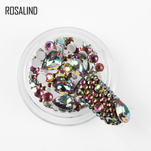 ROSALIND Nail Accessories Strass Art Decorations Chameleon Stone Mixed Color Manicure Decoration Rhinestones For Nail crystals(China)