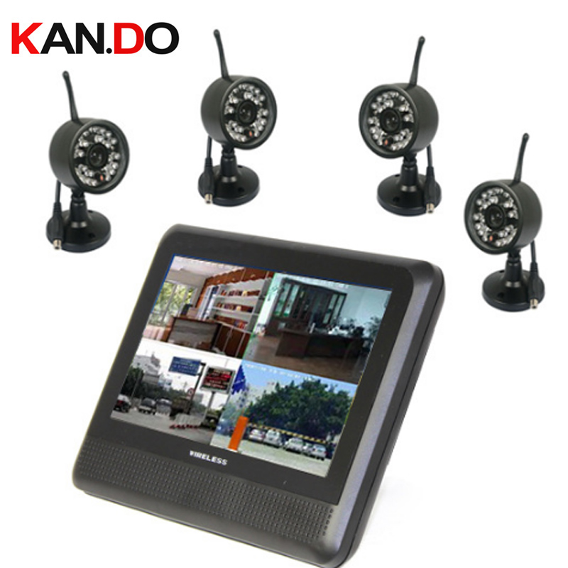 4 Cameras 7.0 Wireless Video Baby Monitor 2.4G Nightvison Baby monitor Camera Babysitter 2.4G wireless cctv camera monitor